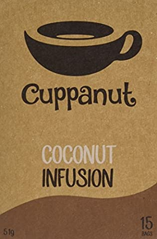 Cuppanut Coconut Infusion 15 Tea Bags (Pack of 6, Total 90)