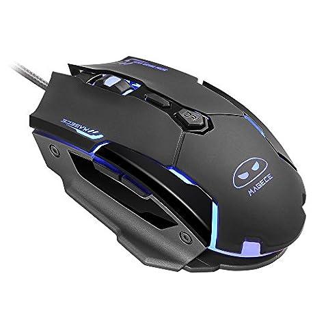 Gaming Maus, USB Optisch Mouse mit 7 Tasten 3200DPI, LED-Beleuchtung