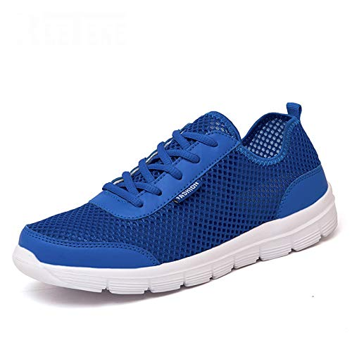 ECOLAQ& 2019 - Scarpe da Ginnastica estive da Uomo, in Rete, Casual, comode, da Uomo, Basse, Tenis Feminino Zapatos Plus Size Bluelaceup 7