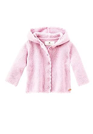 Bellybutton Knitted Jacket with Crochet Edge Unisex Baby Cardigan 4 - 6 Months Soft Rose