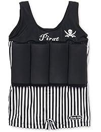 Badeanzug für Kinder mit Schwimmbojen Pirat Größe S
