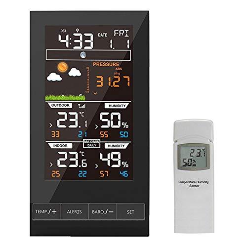 GGYSSY La estación inalámbrica del Tiempo, meteorólogo Temperatura, Humedad, higrómetro Digital inalámbrica de Interior termómetro al Aire Libre.
