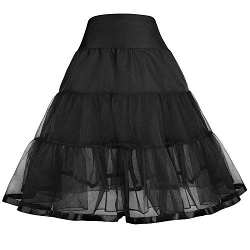 en petticoat rock schwarz rock 7-9 jahre CL10460-1 (Petticoats Für Mädchen)