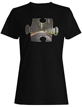 Rompecabezas hermosa perspectiva primer punto camiseta de las mujeres e670f