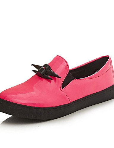 ZQ gyht Scarpe Donna-Mocassini-Casual-Punta arrotondata-Piatto-Finta pelle-Nero / Rosa , pink-us10.5 / eu42 / uk8.5 / cn43 , pink-us10.5 / eu42 / uk8.5 / cn43 black-us7.5 / eu38 / uk5.5 / cn38