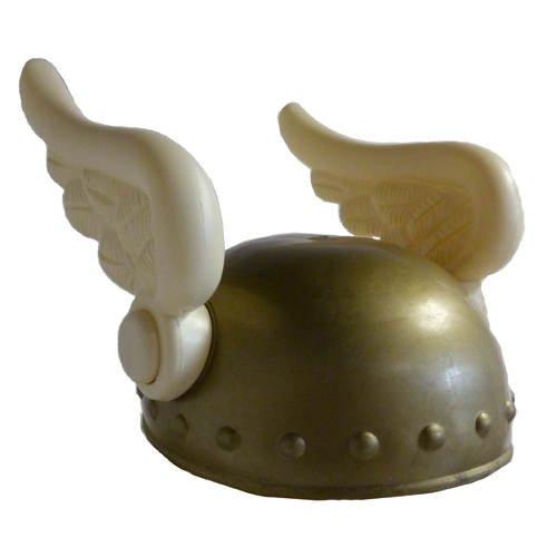 KBO01372 PARTY DISCOUNT Wikinger-Helm mit Flügeln, Kunststoff