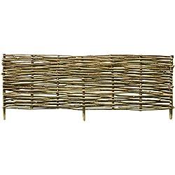 Festnight- Panneau de clôture clôture de Jardin de sécurité barrière de Jardin clôture Exterieur Bordure en Bois 150x40 cm