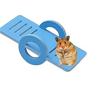 JUNGEN Holz Wippe für Hamster kleine Haustiere Blau