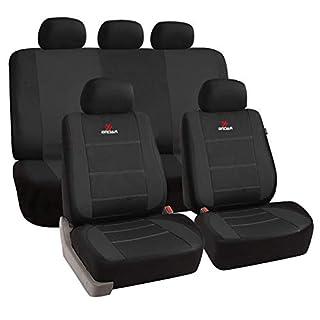 eSituro universal Sitzbezüge für Auto Schonbezug Schoner Komplettset schwarz SCSC0111