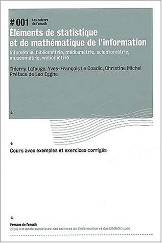 Éléments de statistique et de mathématique de l'information