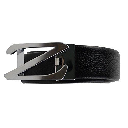 Preisvergleich Produktbild DJ16013 Men Casual Elegant Ledergürtel Herrengürtel von mit Automatikschnalle verschiedene Modelle in edler Geschenkbox - Länge verstellbar