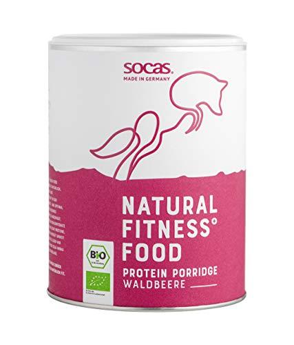 SOCAS Bio Protein Porridge, Waldbeere, 420g, 100{7e6f153b0ecae3862cb78f5bde129b6ec2d62ff4339495f4169aebc53875956e} Bio Soja aus Deutschland, High Protein, Low Carb, ohne Zuckerzusatz