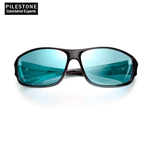 PILESTONE TP-017 farbenblinde gläser Color Blind Korrekturbrille für Rot / Grün Color Blind - Sport im Freien Color Blind Brille - Mild, Moderat und Stark Deutan und Mild, Moderat Protan