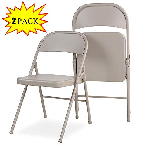 Industrieller Metallklappstuhl Tragbarer Stahl Stapelbarer Stuhl Sitz Rückenlehne Stuhl Bürostuhl Outdoor Training Ausstellungshocker Verleih Stuhl Trainingsstuhl (Color : 2PCS) - Stapelbarer Outdoor-stuhl