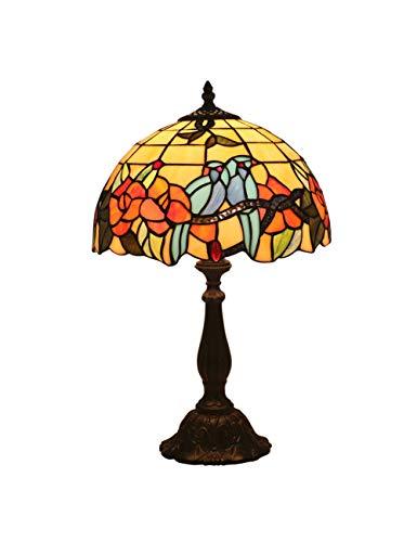 Floral Vintage Stehlampe (KCoob Schreibtischlampe groß Floral und Vögel Stehlampe Vintage für Wohnzimmer)