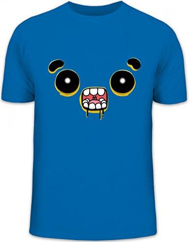 Lustiges Cartoon Emoji Herren T-Shirt mit Funny Faces - Zombie Motiv Royal Blau