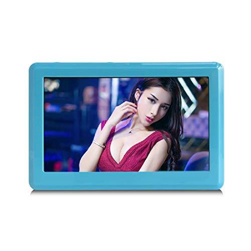 LinZec Mini-Tragbarer HD 4,3-Zoll-8G-Verlustfreier MP5-Musik-Video-Player, Zerstörungsfreier MP3 / MP4-Player Im Standby-Modus,Blue - Bluetooth Mit Sansa Mp3-player
