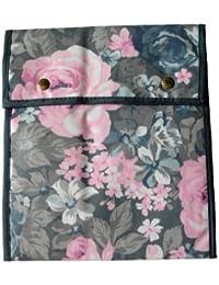 Pariser-Mode Strumpftasche grau-rosé gemustert