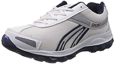 Vokstar Men's White and Blue Running Shoes - 7 UK (V-212)
