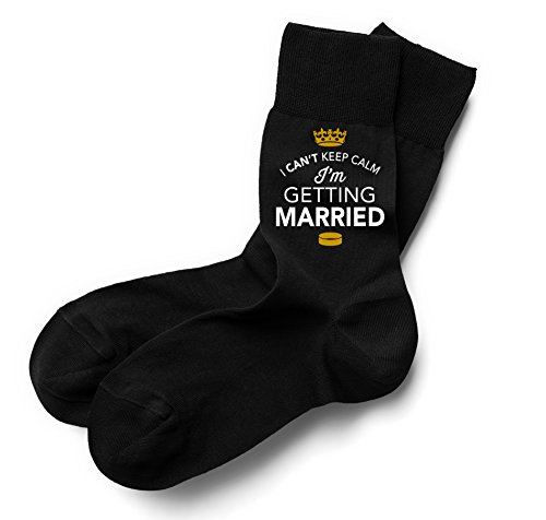 The Wedding Classics UK Groom Socks Gift, Stag Party Socks, Size 6-11, Can't Keep Calm, I'm Getting Married Socks, Keepsake