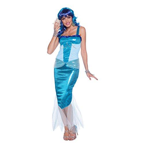 Folat 64037 Meerjungfrau Kleid Frau, Womens, Blau, L/XL