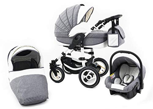 *Tabbi ECO LN | 3 in 1 Kombi Kinderwagen Luft Grey*