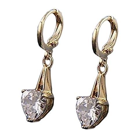 YAZILIND Bijoux Femme élégante 18K plaqué Or coeur de cristal