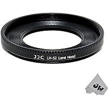 JJC LH-52Metal parasol Shade para Canon EF 40mm EF f/2.8STM Crepe 52mm, Equivalente a ES-52+ JW emall Micro fibra paño de limpieza