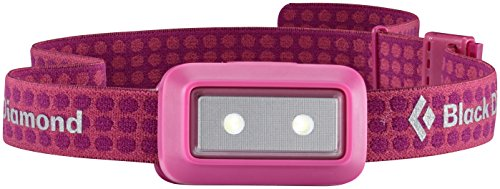 Black Diamond Wiz Headlamp Coral Pink / Ultrakompakte, kindersichere Stirnlampe dimmbar mit Blinkmodus / Batteriebetrieben, max. 30 Lumen
