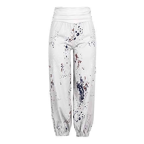 cinnamou Damen Haremshose Boho Hippie Hose,Frauen Damen gedruckt Band breite lose Bein Hosen Frauen Casual Hosen