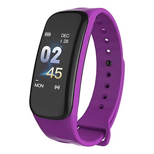 Wearfit WF M8 OLED Touch Pedometer Smart Bracelet (Purple)