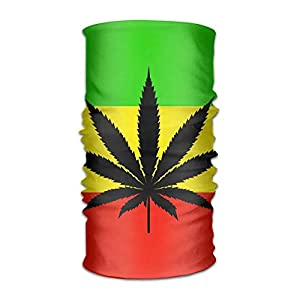 Yuerb Sturmhauben Jamaica Flag Weed Leaf Headwear Bandanas Seamless Headscarf Outdoor Sport Headdress Running Riding Skiing Hiking Headbands