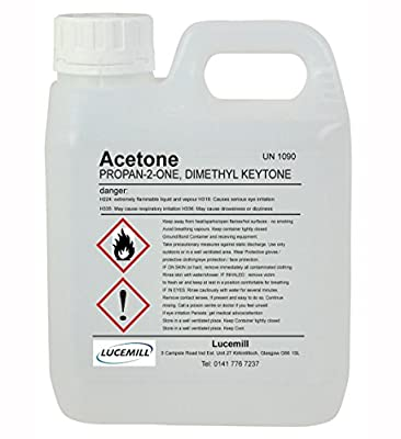 PURE 99.8% ACETONE 1 LITRE (1000mL) in UN Approved Jerry Can & Tamper Proof Cap