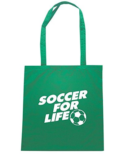 T-Shirtshock - Borsa Shopping WC1214 Soccer For Life Maglietta Verde