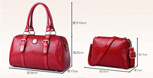 X&L MS-Linien Mode Taschen Stein sechs Stücke multi-Farben Handtasche wine red