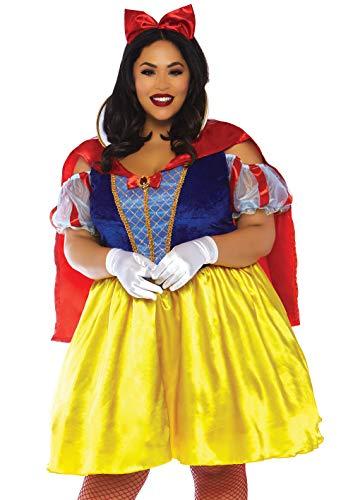 01 2 teilig Kostüm Set Märchenhaftes Schneewittchen, Damen, Mehrfarbig, Größe 3X/4X (EUR 52-56) ()