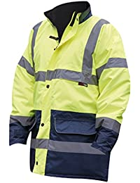 Warrior Mens Denver High Visibility Safety Jacket