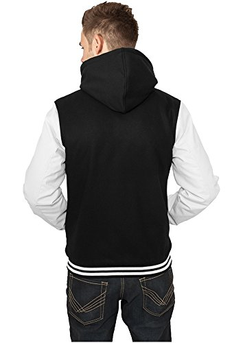 TB438 Hooded Oldschool College Jacket Herren Outdoor Jacke Kapuze - 3