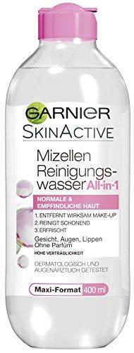 Garnier Mizellen Reinigungswasser, für normale, empfindliche Haut, befreit intensiv von Make-up-Resten und Schmutzpartikeln, hautschonend, 6er Pack (6 x 400 ml)