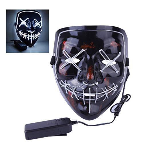 nabati Halloween Maske LED Light EL Wire Cosplay Maske Purge Mask für Festival Cosplay Halloween Kostüm