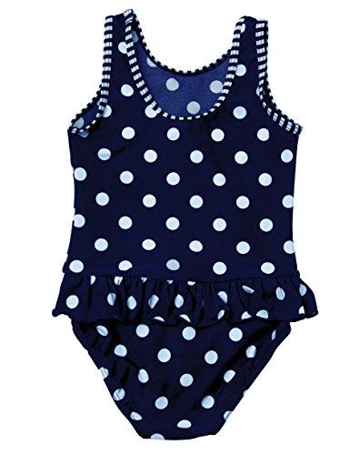 Baby Girls Polka Dots Swimwear Traje de baño de una pieza de baño de vacaciones para niños (24-36 meses)