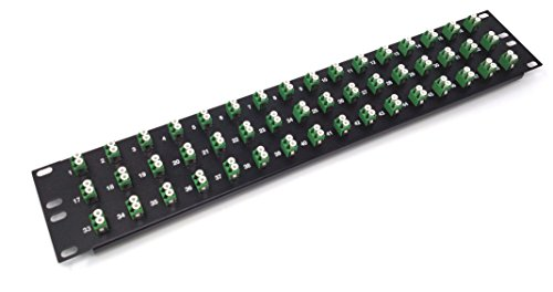 'LC-Faser Patch Panel (19geladen, 1U) 48 Port Green Couplers (APC Singlemode) - Fiber Optic Connector Panel