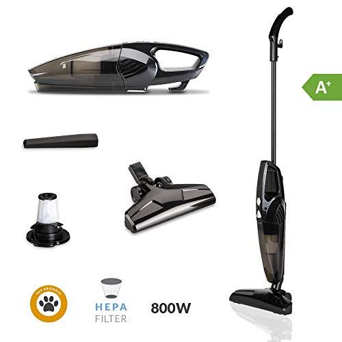 SAMBA Aspirador Vertical y de Mano Duo Stick - Aspirador Escoba con Cable 2 en 1, 800W, Ligero, Sin Bolsa, Filtro HEPA, Capacidad Depósito 0.5 l.