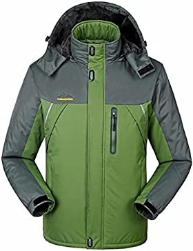 Sawadikaa Mujer Chaqueta de Esquí Alpinismo Al Aire Libre Impermeable Chaqueta de Nieve Lana Capa Excursionismo...