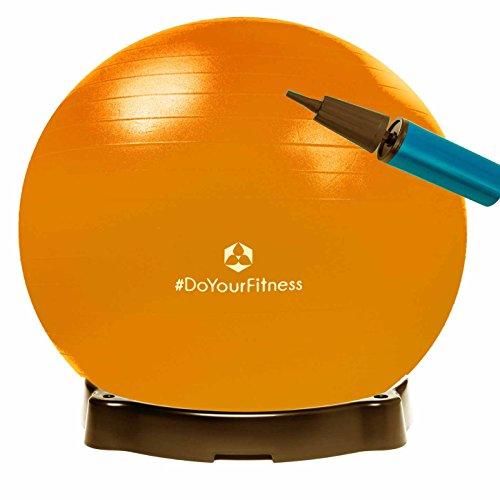 Gymnastikball »Orion« inklusive Ballschale/Robuster Sitzball und Fitnessball / 85 cm/orange inklusive Sitzschale
