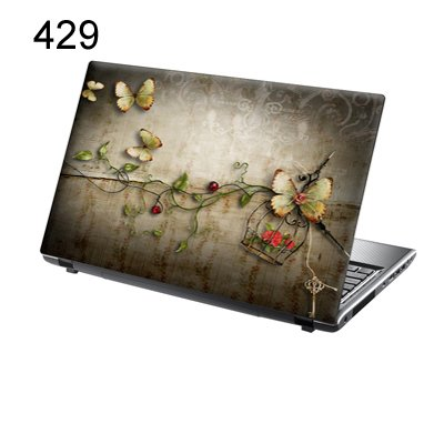 er Skin Vinyl Aufkleber mit bunten Mustern für 15 Zoll 15,6 Zoll (38cm x 25,5cm) Laptop Skin Schmetterlinge, Blumen, Vintage ()