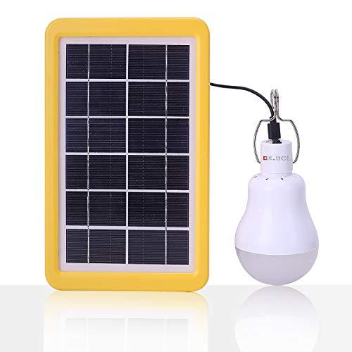 fecc8a35aeb45 Bol lampe solaire portable ampoule LED Panneau solaire 480LM,4000mAh