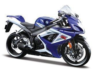 Suzuki GSX-R750 En Bleu (1:12 echelle) Modèle moulé Moto
