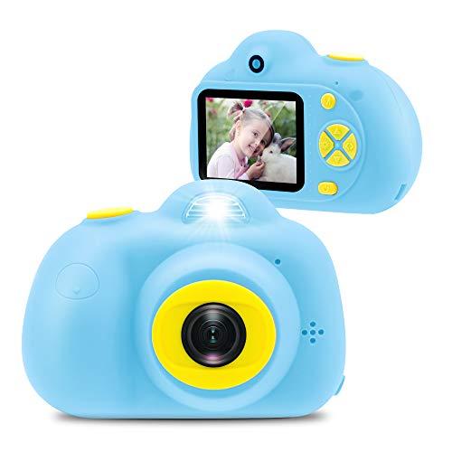 Veroyi 8 Megapixel Kinderkamera 1080P wiederaufladbarer digital Selfie-Camcorder für Kinder im Alter von 4 bis 10 Jahren (16 G SD-Karte im Lieferumfang enthalten) (Hellblau)