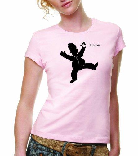 Coole-Fun-T-Shirts T-SHIRT iHomer - DANCE - GIRLY rosa - T-SHIRT - GR.XL (Rosa 2008 Damen T-shirt)